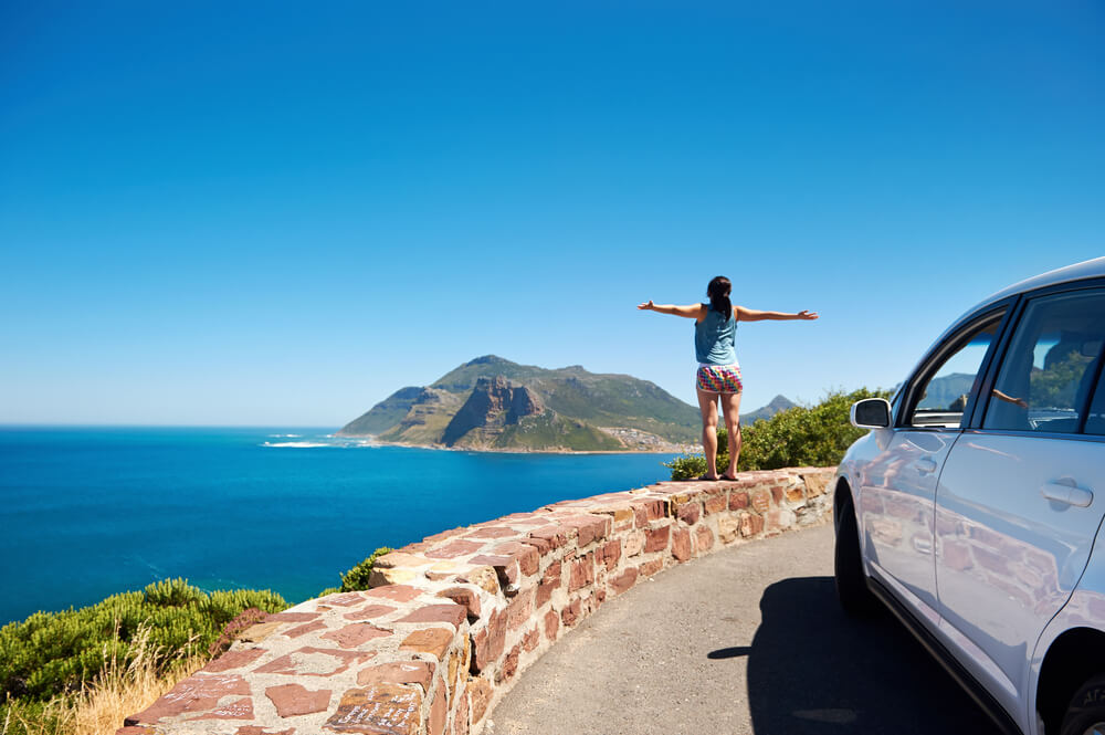Travelling in a rental car